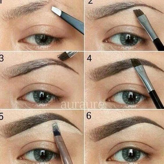 como pintarse las cejas